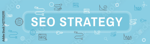 SEO Strategy - Search engine optimization concept - keywords, etc Canvas Print