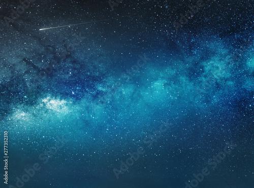 Obraz night sky background with stars and comet - fototapety do salonu