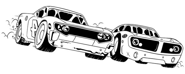 Race Line Art