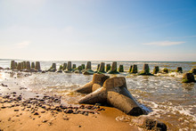 Baltic Sea With Wave-breaker