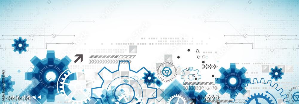 Fototapeta Abstract technology business background