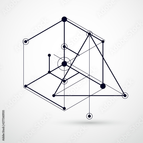 Abstract vector composition with simple geometric figures