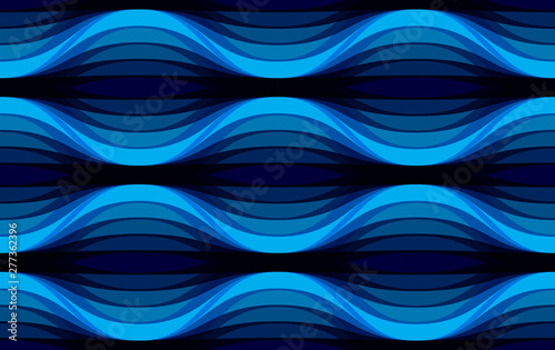 Fototapeten Künstlich Geometric seamless pattern, abstract tiling background, vector repeat endless wallpaper illustration. Wavy curve shapes trendy repeat motif. Usable for fabric, wallpaper, wrapping