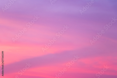 Wall Murals Candy pink Sky background in twilight period with pink and violet color at sunset