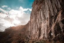 Rock Face In Spain