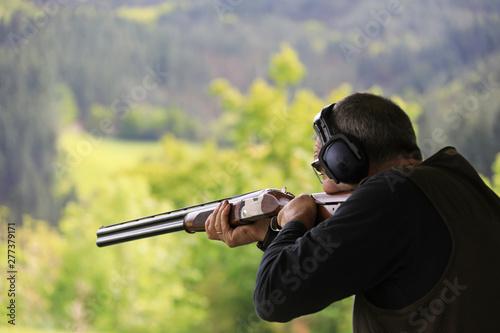 Leinwand Poster tiro al plato escopeta país vasco 4M0A2223-as19
