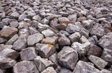 Close Up Of Boulders Sea Defence Background