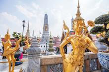 Golden Statue Of Kinnari At Gr...