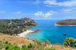 Clear blue Andaman sea from Windmill View Point near Laem Promthep Cape, Phuket, Thailand