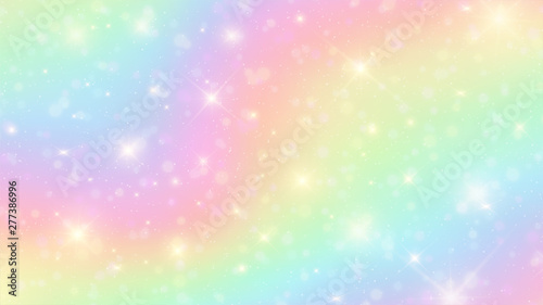 Vector illustration of galaxy fantasy background and pastel color Wallpaper Mural