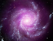 canvas print picture - Pinwheel Galaxy. Space nebula. Cosmic cluster of stars