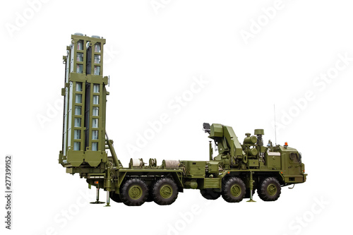 Rocket complex S-300 on a white background, isolate Canvas Print