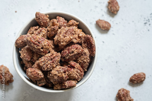 Fotografie, Obraz  Candied pecan, almond and walnut with brown sugar and cinnamon