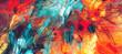 Leinwandbild Motiv Bright artistic splashes. Abstract painting color texture. Modern futuristic pattern. Dynamic bright vibrant background. Fractal artwork for creative graphic design