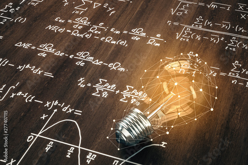 Innovation and math concept Wallpaper Mural