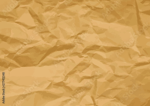 Fototapeta  vector of brown crumpled paper texture