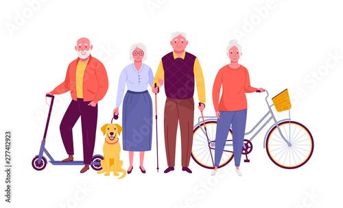 Active senior citizens Canvas Print