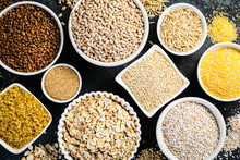 Selection Of Whole Grains In W...