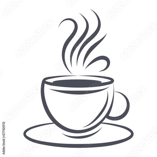Obraz Сoffee cup icon - fototapety do salonu