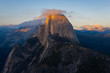 Half Dome at sunset from Glacier Point in Yosemite National Park, California, USA