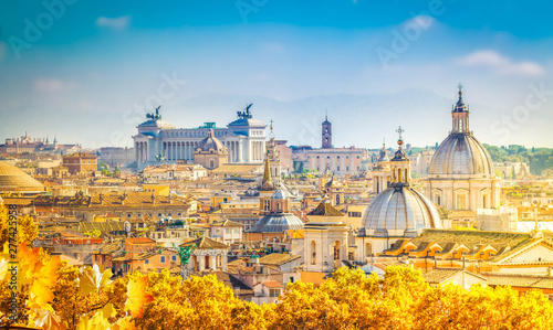 Photo sur Aluminium Rome skyline of Rome, Italy