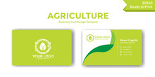 Green Agriculture Business Card Design Template