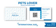 Pets business card design template