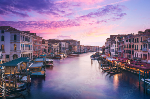 Fototapeta Canal grande da Ponte di Rialto obraz na płótnie