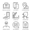 Web notifications related, square line vector icon set for applications and website development. The icon set is pixelperfect with 64x64 grid. Crafted with precision and eye for quality.