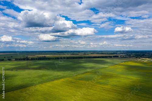 Photo Aerial photograph area on agriculture and village