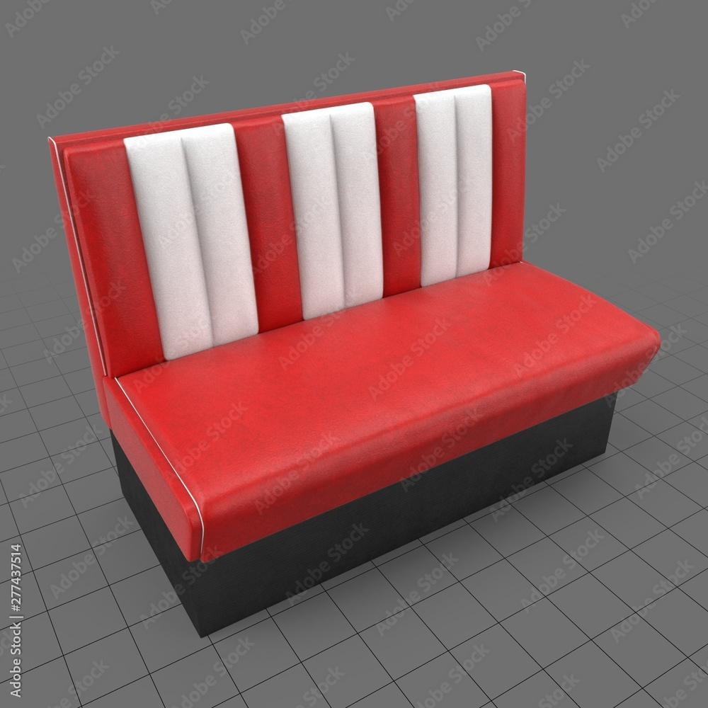 Fototapety, obrazy: Retro dining bench