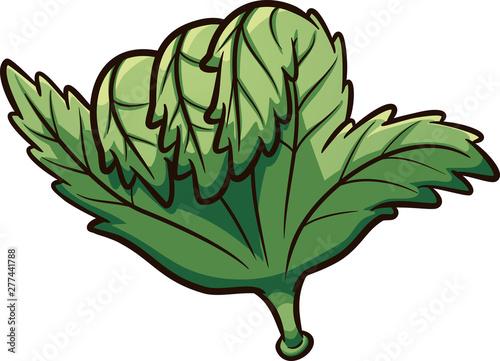 Cartoon marijuana hand making the hang loose or shaka sign clipart Wallpaper Mural