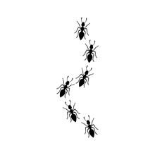 Line Of Black Ants Logo