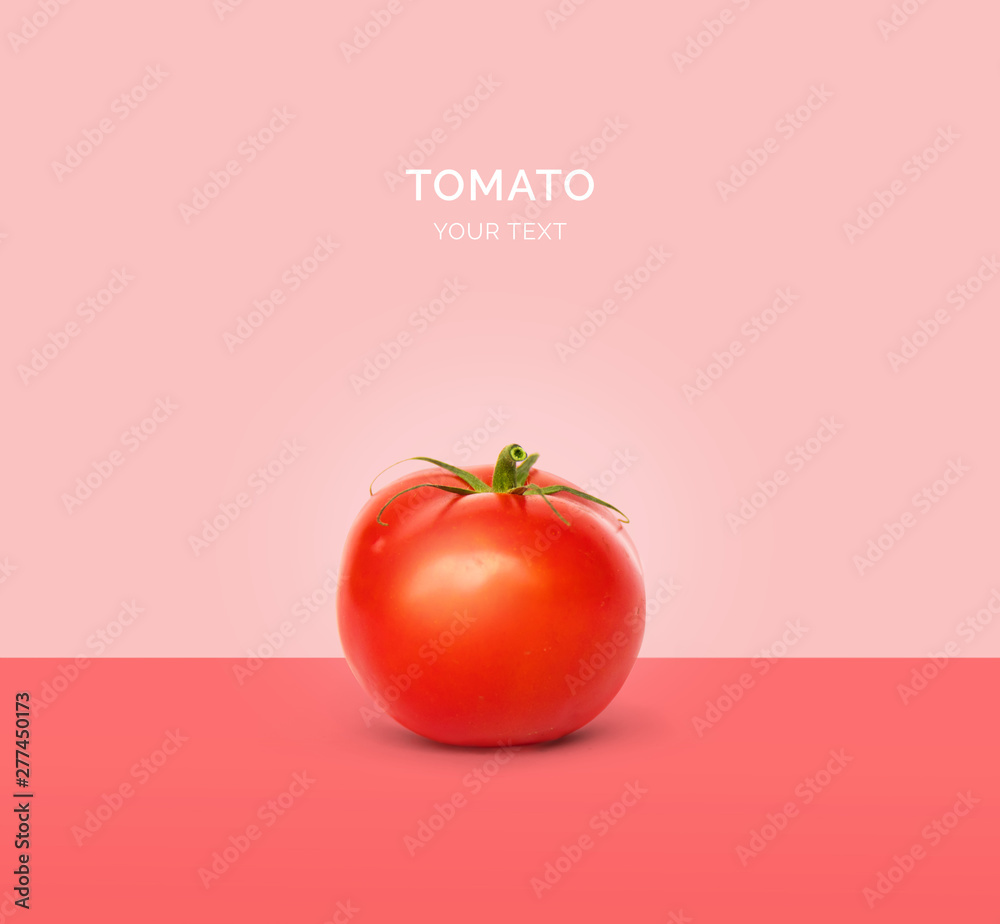 Fototapety, obrazy: Creative layout made of tomato. Flat lay. Food concept.