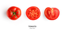 Creative Layout Made Of Tomato...