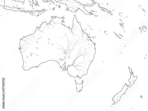 World Map of AUSTRALIA CONTINENT: Australia, New Zealand ...
