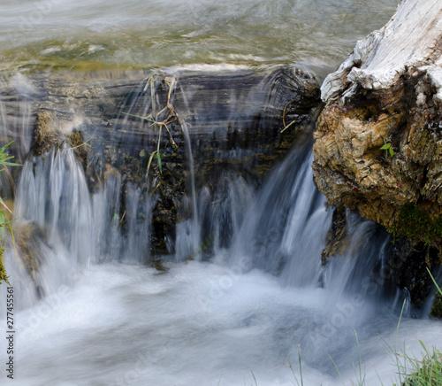 waterfall, cascade, motion, nature, landscape, water, flow, motion