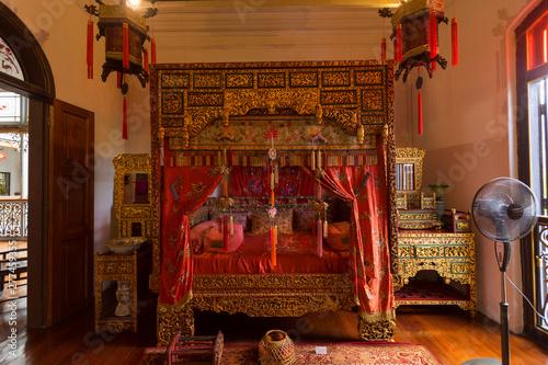 Traditional Chinese Bedroom Interior Of The Pinang Peranakan Mansion In Penang Malaysia Buy This Stock Photo And Explore Similar Images At Adobe Stock Adobe Stock