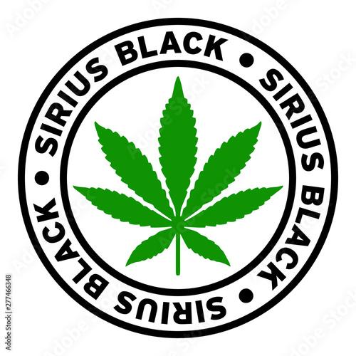 Round Sirius Black Marijuana Strain Clipart Canvas Print