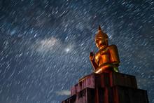Big Buddha Statue Star Night M...