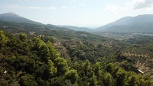 Aerial Flyover View Of Mountai...