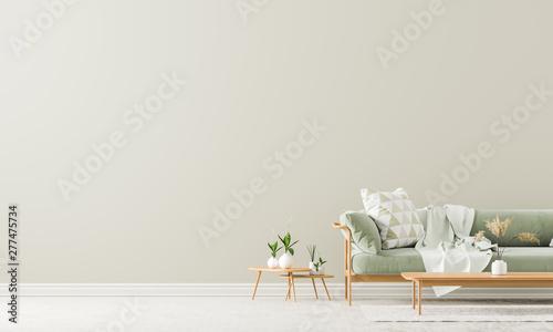 Cuadros en Lienzo Scandinavian style interior with sofa and coffe table