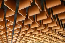 Wooden Modern Striped Line Ceiling Pattern