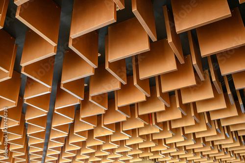 Wooden modern striped line ceiling pattern Poster Mural XXL