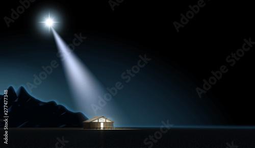Fotografie, Obraz Christ's Birth In A Stable