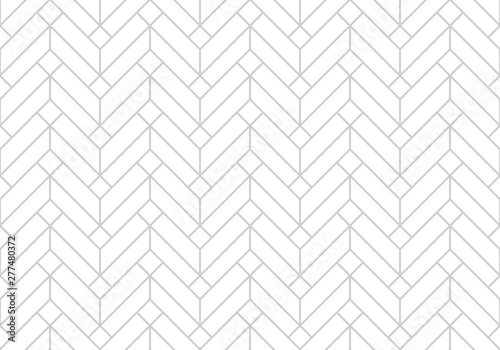 Foto auf Leinwand Künstlich Abstract geometric pattern with stripes, lines. Seamless vector background. White and grey ornament. Simple lattice graphic design.