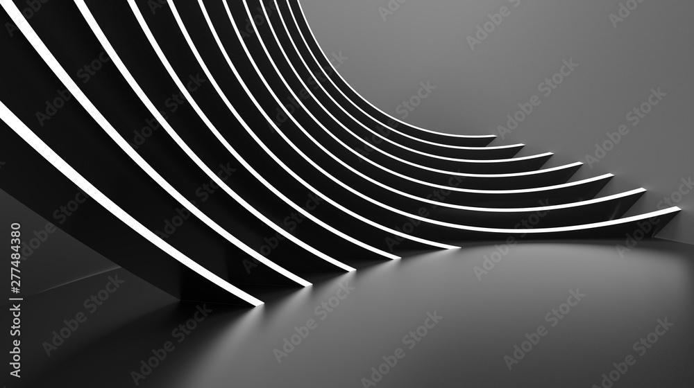 Fototapeta Abstract Architecture Background. Minimal Graphic Design