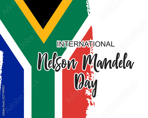 Valokuva International Nelson Mandela Day in vector format