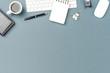 Elegant office desktop with copyspace