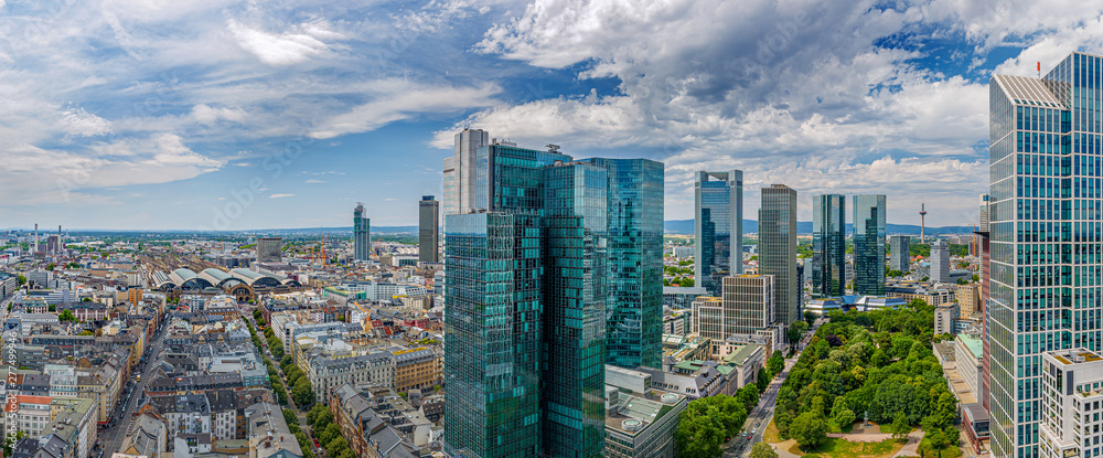 Fototapety, obrazy: Frankfurt City Downtown
